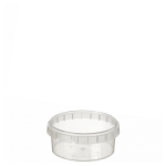 180ml Tamper Evident Clear Cont & Lid set [18093]